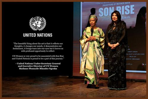 United Nations Under-Secretary General & Executive Director, UN Women Madame Phumzile Mlambo-Ngcuka Unveils 'Son Rise' at The Royal Opera House Mumbai
